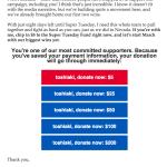 たったの1ドル献金したら、ヒラリーからキャバ嬢並のおねだりメールが連日やってきて困る…