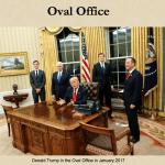 ホワイトハウスの大統領執務室 オーバルオフィス The Oval Office ウエストウィング レゾリュートデスク