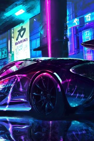Here's how to make sure you. Cyberpunk 4K Wallpaper, McLaren, Supercars, Neon art, Cars