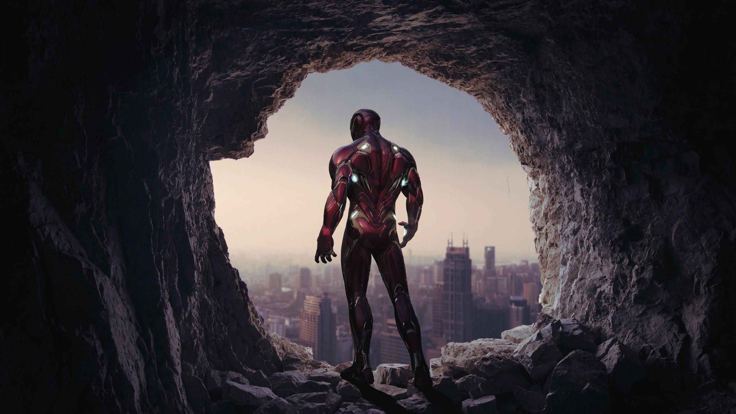 4k Wallpaper Iron Man Cave Time Travel Graphics Cgi 112