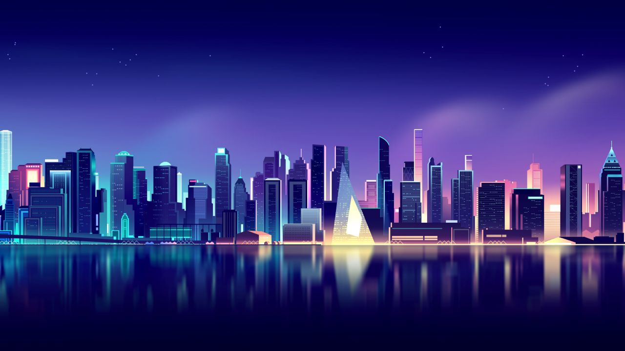 If a photo someone sends you makes the cut, save the photo from your email to your camera roll and then set it as a background the same. Cityscape 4K Wallpaper, Neon, Skyline, Aesthetic