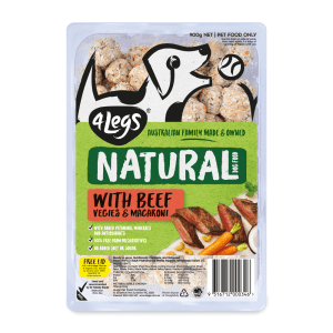 4Legs Natural Beef Macaroni Tray 900g