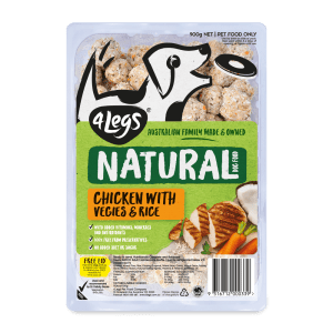 4Legs Natural Chicken Rice Tray 900g