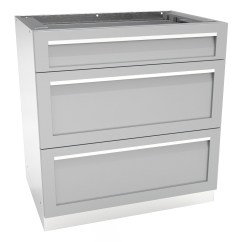 Outdoor Kitchen Drawers Island With Butcher Block 3 Drawer Cabinet G40003 4 Life