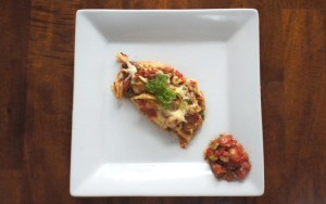 Bruschetta Baked Three Cheese Chicken