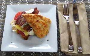 Spicy Scone Breakfast Sandwich
