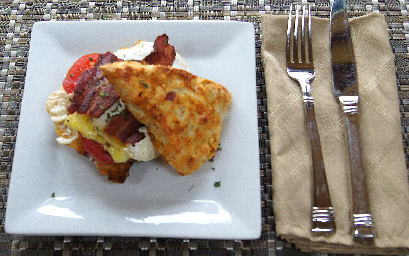 Spicy Scone Breakfast Sandwich