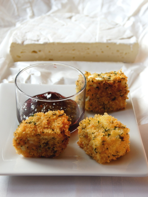 Fried Brie Cheese with Pepper Jam