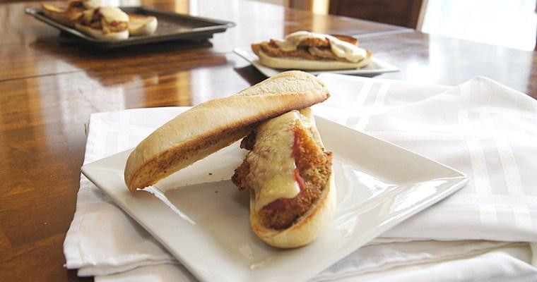 Schnitzel Parmesan Sandwich