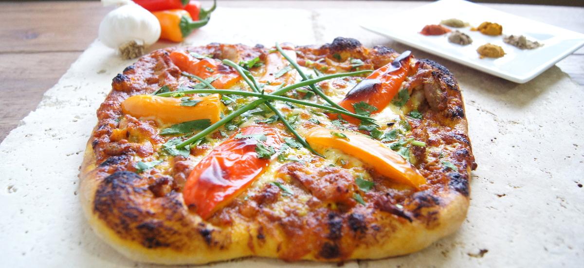 Curried Chicken Pizza