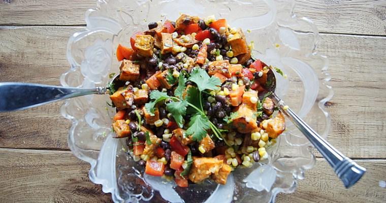 Black Bean Corn and Roasted Sweet Potato Salad