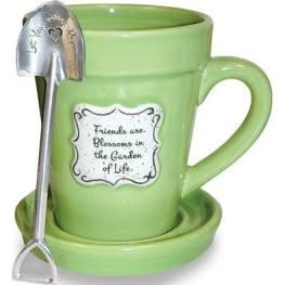 flower mug green