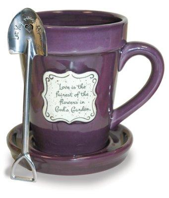 flower mug purple