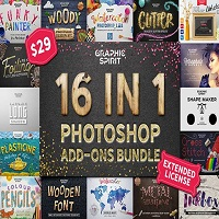16 in 1 Photoshop Add-ons Bundle [Mac OS X] Free Download