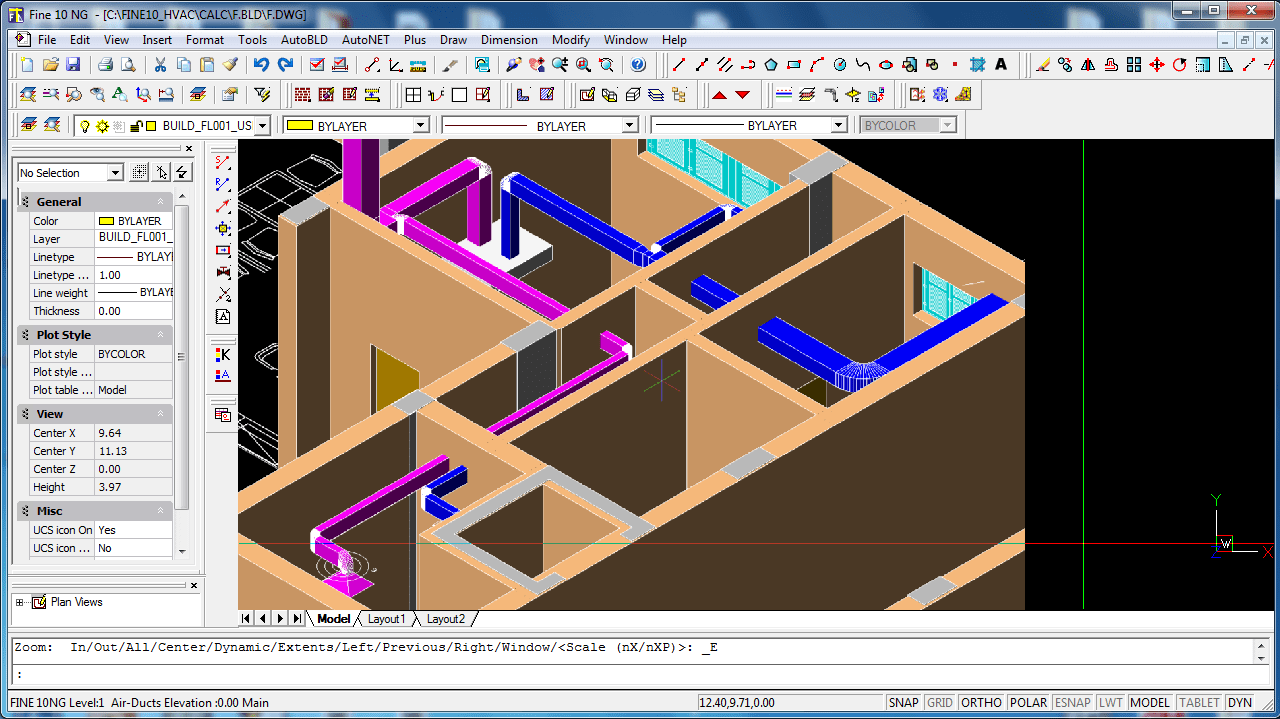 hight resolution of  you can draw pipes air ducts in 3d
