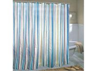 Light Blue Stripe Waterproof Shower Curtain J01006, Buy at ...