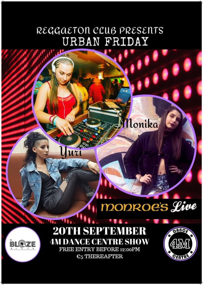Urban fridays at monroes with 4M Dance Centre.