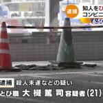 逮捕された大槻篤司の顔画像やSNSのアカウントは?知人をひき殺そうとした動機は!?