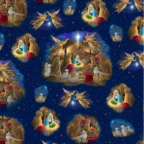 holy night nativity vignette