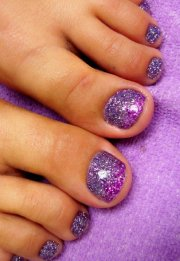 full sets glitter toes magic manicure