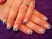 Full Sets Glitter Toes Magic Manicure with Glitter Party ...