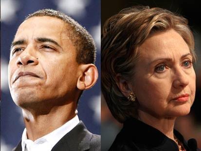 clintonobama532008 - Primarie USA: Clinton conquista il Texas, l'Ohio e Rhode Island, Obama solo il Vermont