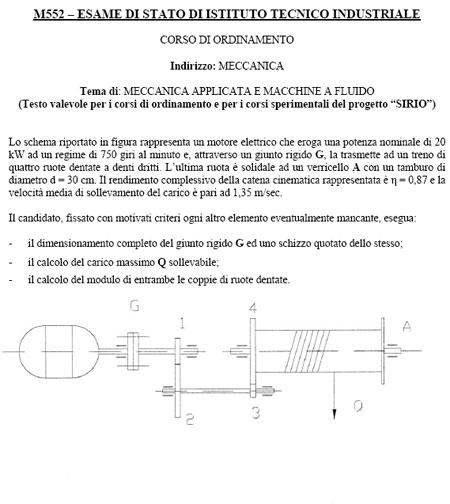 meccanica190608 - Maturità 2008: le tracce della Seconda Prova