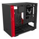 H200i Matte BlackRed Right45 OpenPanel - NZXT presenta la nuova Serie H dei suoi case per PC