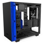 H400i Matte BlackBlue Right45 OpenPanel - NZXT presenta la nuova Serie H dei suoi case per PC