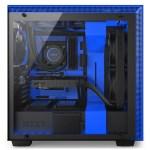 H700i Matte BlackBlue Side System - NZXT presenta la nuova Serie H dei suoi case per PC