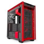 H700i Matte BlackRed Front Fans - NZXT presenta la nuova Serie H dei suoi case per PC