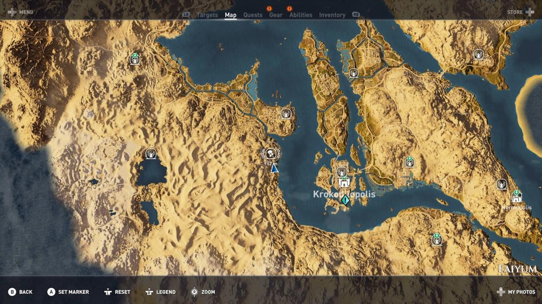 Hermit Faiyum 01 - Guida Assassin's Creed Origins, dove trovare tutte le Statue di Tolomeo e gli Eremi nascosti