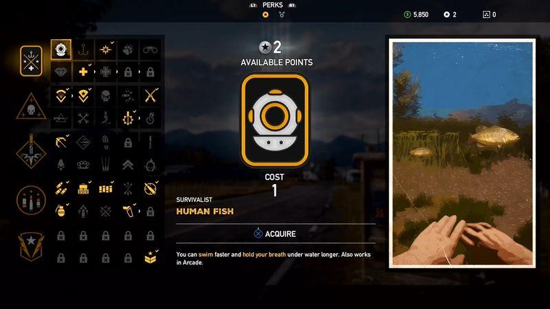 Far Cry 5 survivalist skill tree - Far Cry 5, guida alle abilità