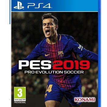 PES 2019 Mock Pack PS4 2D PEGI3 350x350 - Konami, annunciata la data di uscita di PES 2019