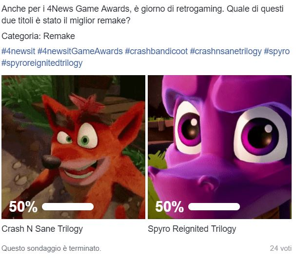 crash vs spyro 4news game awards - 4News Game Awards - God of War si guadagna il titolo di Game of the Year