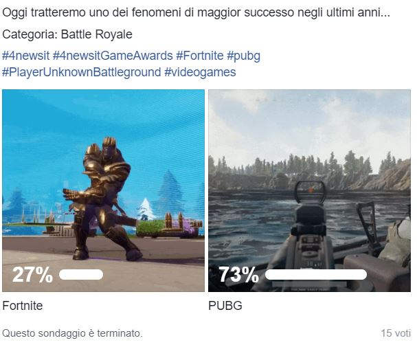 fortnite vs pubg 4news game awards - 4News Game Awards - God of War si guadagna il titolo di Game of the Year