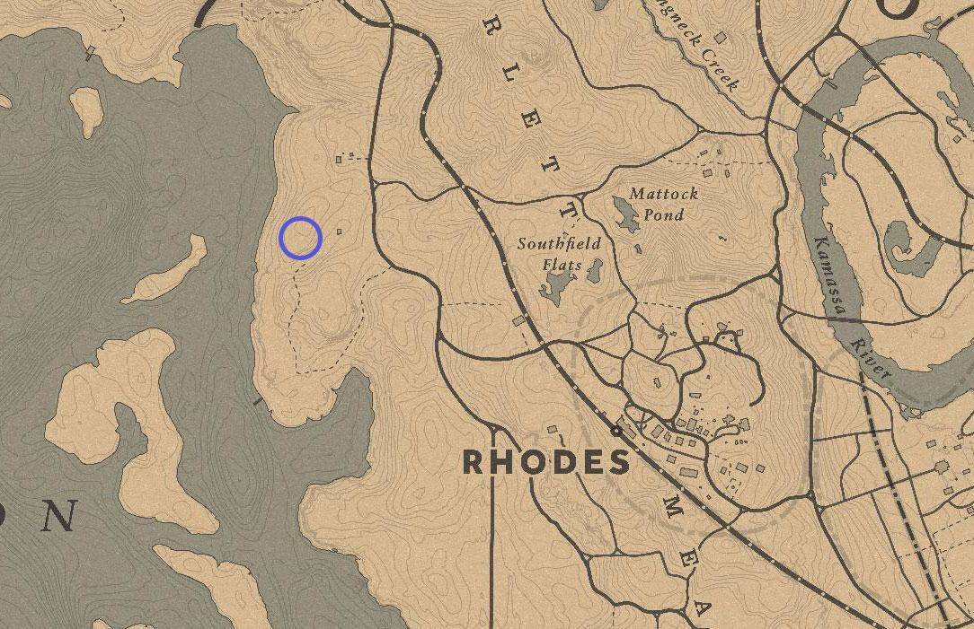 rdr2 sean macguire grave location map - Red Dead Redemption 2, dove trovare tutte le tombe