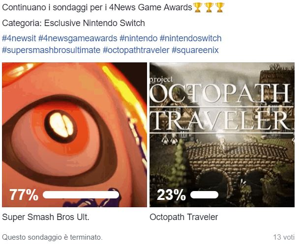 ssbu vs octo 4news game awards - 4News Game Awards - God of War si guadagna il titolo di Game of the Year