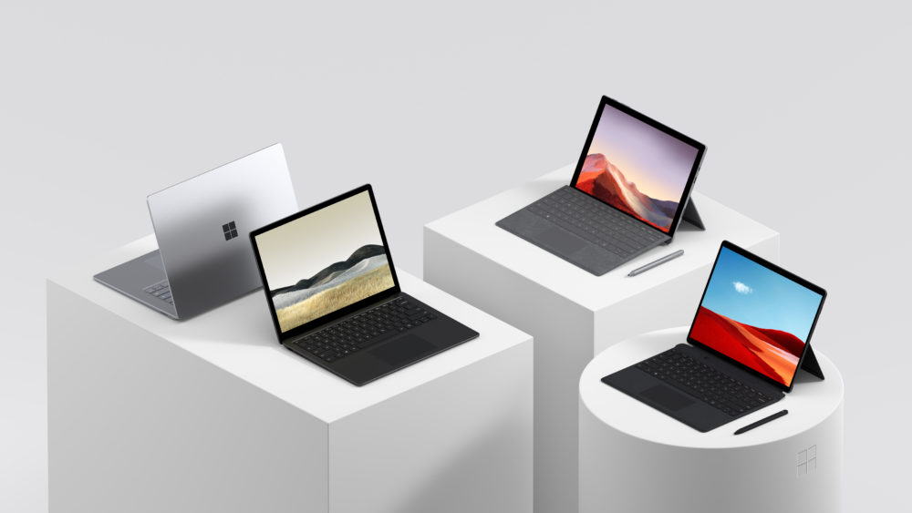 SurfaceFamily 3 1000x563 - Microsoft, ecco i nuovi prodotti della linea Surface per il 2020