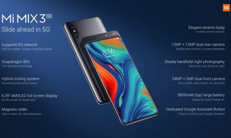 Xiaomi Mi Mix 3 5G specs 740x443 - Al via il primo torneo Xiaomi 5G Mobile Brawl by ESL