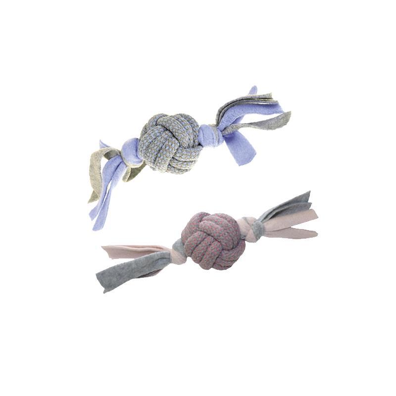 Pinker Fleece Ball Little Racals von Happy Pet mit den beiden Varianten