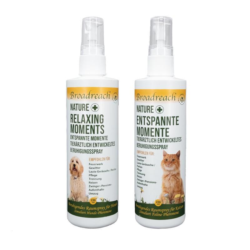 NaturePlus entspannte Momente beruhigendes Raumspray für Katzen und Hunde von Broadreach