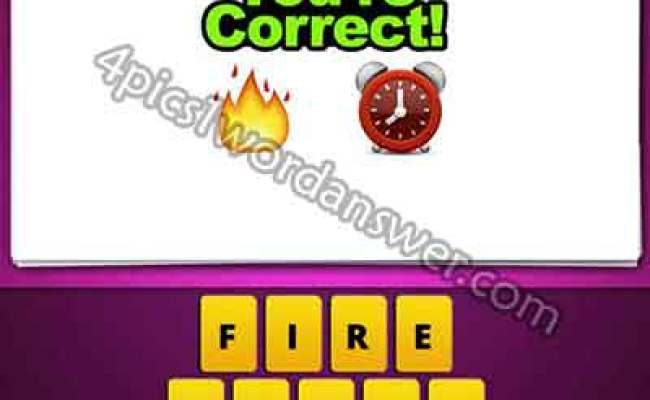 Guess The Emoji Fire And Clock 4 Pics 1 Word Daily