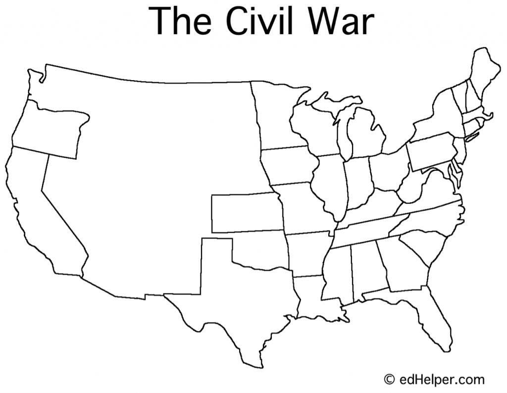 Printable Civil War Map