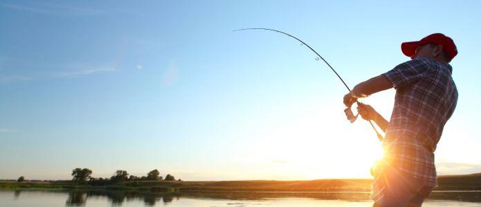 Angeln mit schwerem Fisch