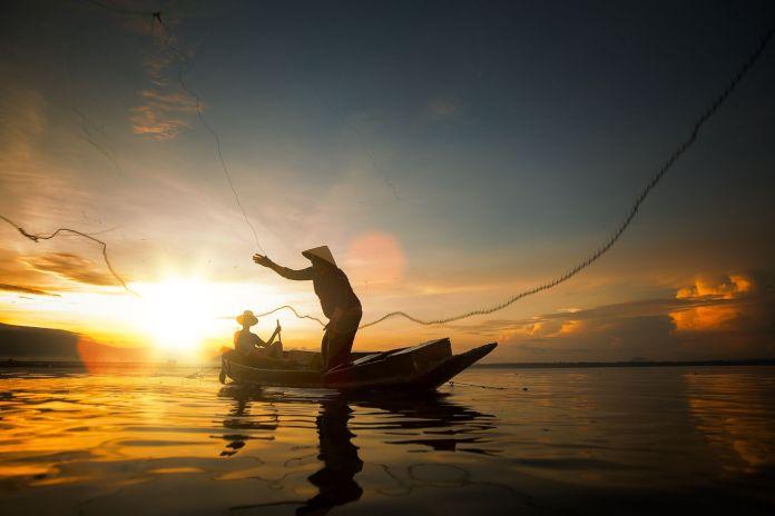Bootfahren zum Angeln