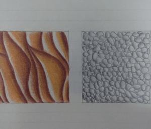 Sand und Kies gemalt