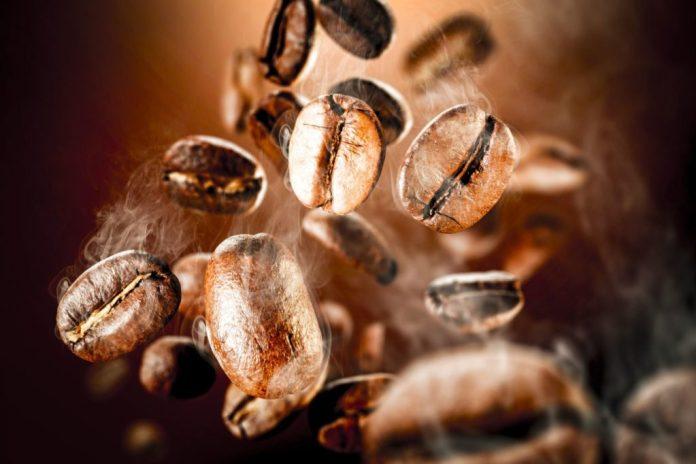 Bohnen von Kaffee