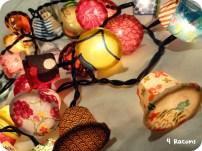Llumetes decoratives de càspules cafe. Reciclar cafè.