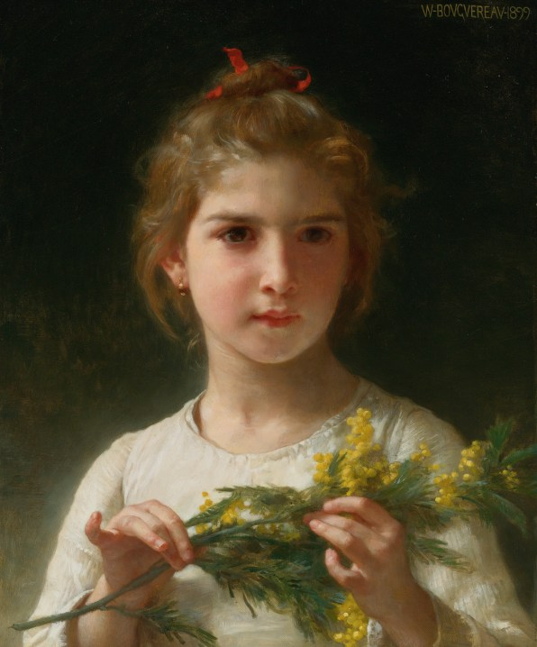 """William-Adolphe Bouguereau (French, 1825-1905), """"Mimosa"""" (""""The Mimosa Flower"""", 1899)."""